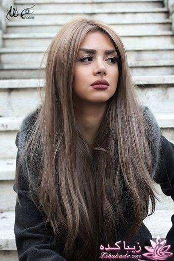 عکس رنگ مو دودی خاکستری