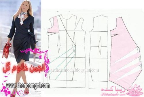 الگو جیب مانتو ژورنال لباسهای زنانه با الگو الگوی تونیک جیب دار پست آخر ...