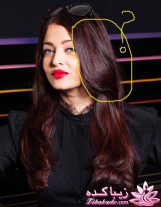 هایلایت نه ای دودیروی مو مشکی رنگ مو، آموزش ترکیب رنگ مو عزیزم من رنگ ۶.۶۵ نوول - زیباکده