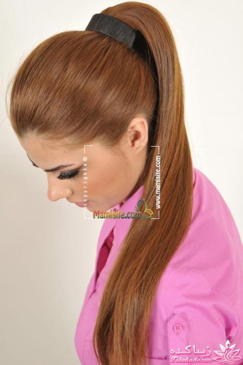 عکس رنگ موی پرکلاغی