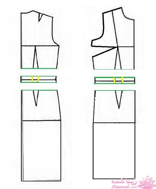مدل کت یقه بسته آموزش دوخت لباس مجلسی برای الگوسازیِ این مدل کت صفحه 92 ...