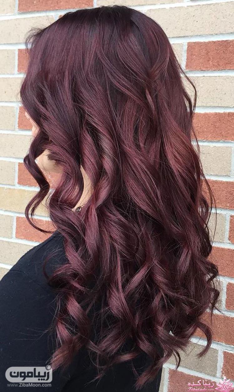 رنگ مو، آموزش ترکیب رنگ مو آرایشگر رنگ مو بادمجانی پست